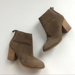 Urban Outfitters suede classic booties